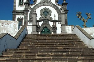 Church and stairway