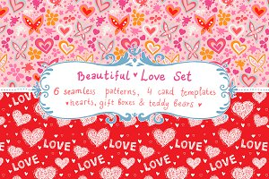 Love set - patterns & cards