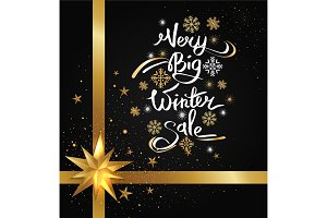 Very Big Winter Sale Image Vector Illustration