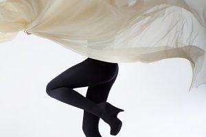 Slender female legs