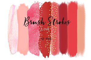 Love. Brush strokes clipart.