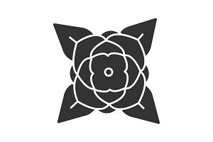Blooming rose glyph icon