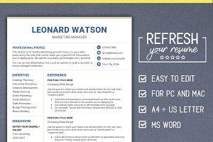 Modern RESUME Template CV - MS Word