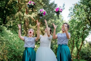 Stunning bride and bridesmaids