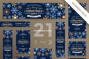 Banners Pack | Merry Christmas Party