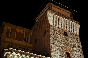 Tower of Settimo at night