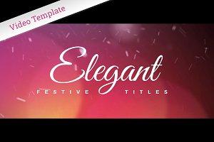 Elegant Festive Titles - AE