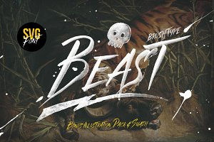 Beast SVG font & Graphics Pack