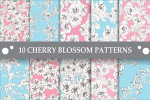 10 Cherry Blossom Patterns