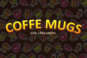 Coffee mugs and free pattern