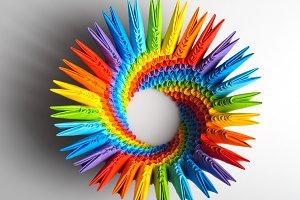 Origami rainbow 3d capacity