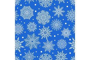 Seamless Pattern Snowflakes Ornamental Patterns