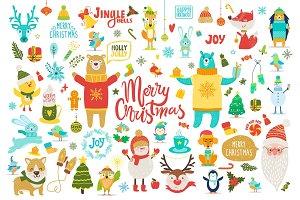 Merry Christmas Jingle Bells Vector Illustration