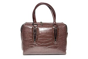 ladies leather handbag brown