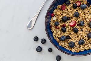 Healthy breakfast cereal bowl