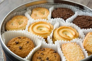Assorted butter cookies
