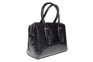 women's leather handbag in black