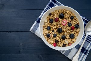 Fruit cereal breakfast bowl