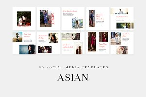 Asian - Social Media Templates