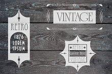 Art deco vector logos set