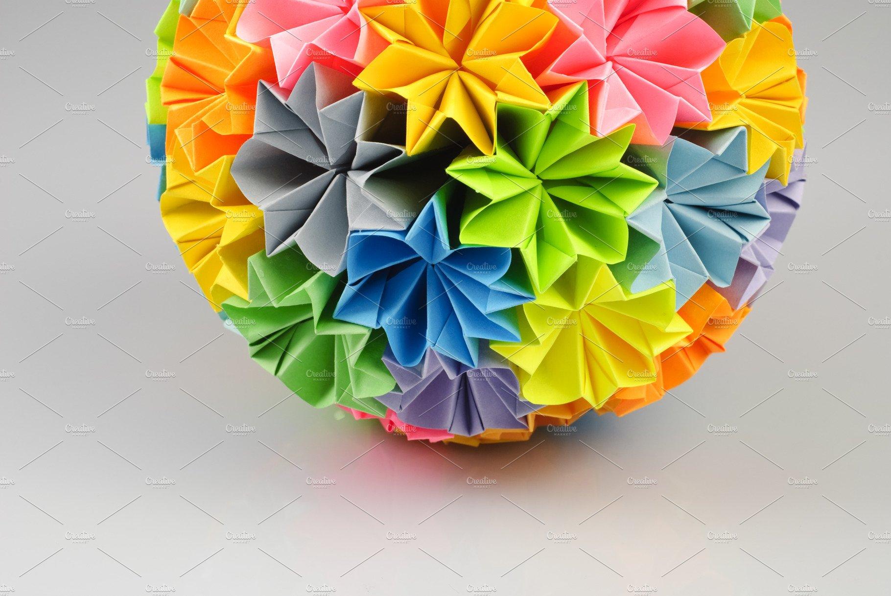Origami Kusudama Flower Nature Photos Creative Market
