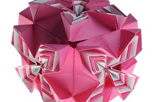 Origami kusudama box