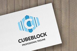 Cube Block (Letter C) Logo