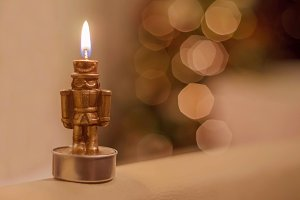 Nutcracker, candle