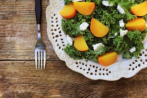 Healthy Beet Salad with fresh kale l