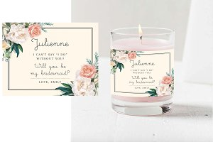 Will You Be My Bridesmaid Candle PSD