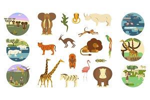 African safari banners