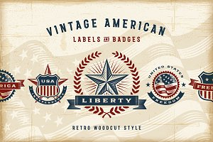 Vintage American Labels Set