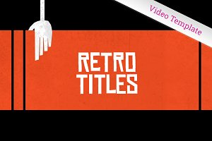 Retro Graphics Title Sequence - AE