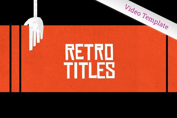 Retro Graphics Title Sequence Ae Creative Illustrator Templates Creative Market,Fashion Designer In Spanish
