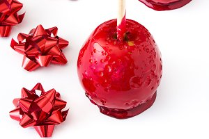 Candy Christmas apples