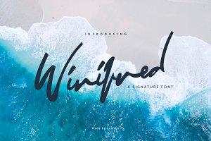 Winifred - Signature Font - 75% OFF