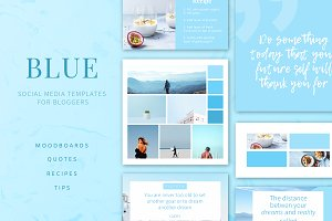 BLUE | Social Media Templates Pack