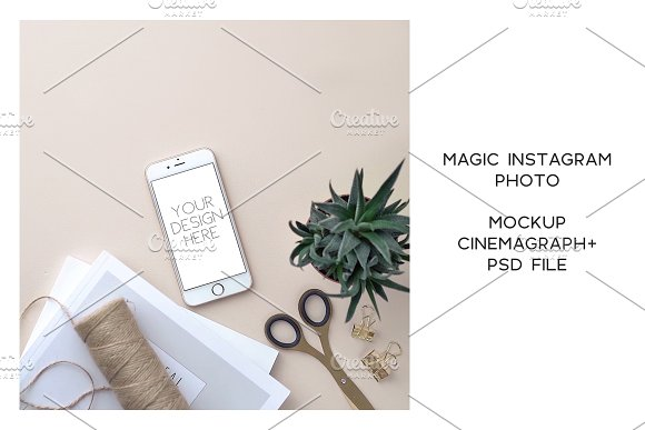 Animated Instagram photo. Mockup #19