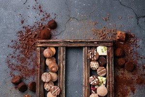 Chocolate truffle candys