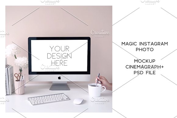 Animated Instagram photo. Mockup #21