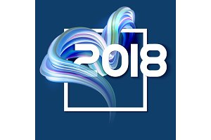 2018 New Year colorful abstract background