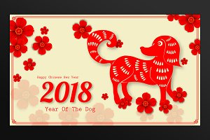 2018 chinese new year card card templates creative market m4hsunfo