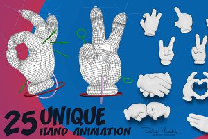 25 Cartoon Hand Animaation