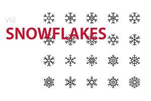 40  Snowflakes UI icons