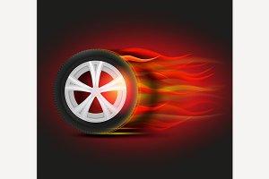 Burning Tyre Image