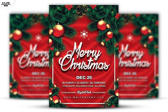christmas flyer template flyers - Christmas Flyer Template