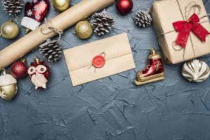 concept of Christmas gift wrapping