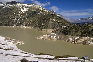The Grimselsee on the Grimsel pass