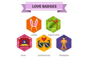 Love badges.He and she
