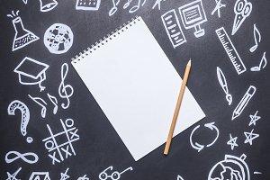 drawings on the chalkboard